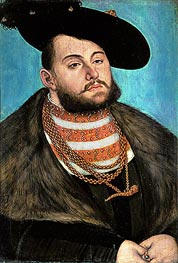 Portrait of John Frederick the Magnanimous Elector of Ernestine of Saxony | Lucas Cranach | Painting Reproduction