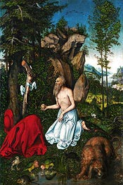 St. Jerome in the Desert | Lucas Cranach | Gemälde Reproduktion