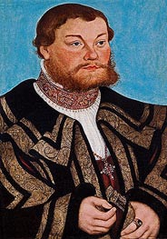 Duke Johann II von Anhalt, 1532 by Lucas Cranach | Painting Reproduction