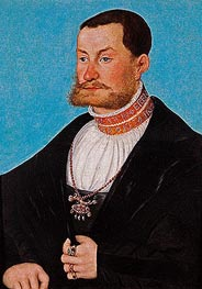 Joachim von Anhalt, c.1530 by Lucas Cranach | Painting Reproduction