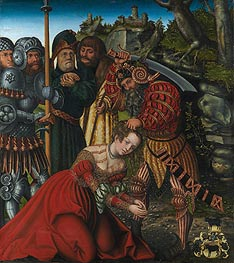 The Martyrdom of Saint Barbara, c.1510 by Lucas Cranach | Painting Reproduction