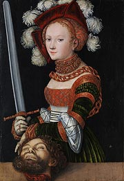 Judith with the Head of Holofernes, c.1530 by Lucas Cranach | Painting Reproduction