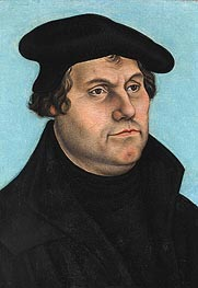Martin Luther, undated by Lucas Cranach | Painting Reproduction