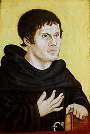 Portrait of Martin Luther as a Young Man, c.1520 by Lucas Cranach | Painting Reproduction