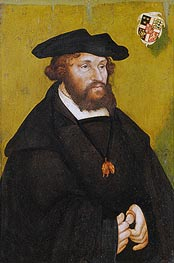 Portrait of King Christian II of Denmark | Lucas Cranach | Gemälde Reproduktion