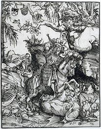 St. George Slaying the Dragon, c.1510/15 by Lucas Cranach | Painting Reproduction
