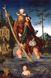 Saint Christopher, 1518/20 by Lucas Cranach | Painting Reproduction