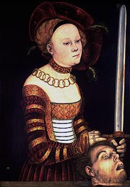Judith with the Head of Holofernes, c.1537/40 by Lucas Cranach | Painting Reproduction