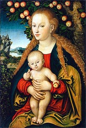 The Virgin and Child under an Apple Tree | Lucas Cranach | Painting Reproduction