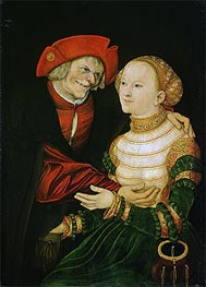 The Ill-Matched Couple | Lucas Cranach | Painting Reproduction