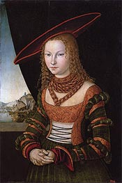 Portrait of a Woman, 1526 by Lucas Cranach | Painting Reproduction