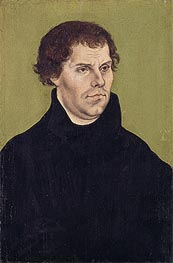 Portrait of Martin Luther, Aged 43 | Lucas Cranach | Painting Reproduction