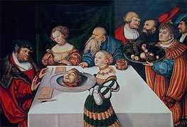 The Feast of Herod | Lucas Cranach | Gemälde Reproduktion