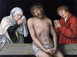 Christ as the Man of Sorrows with the Virgin and St. John | Lucas Cranach | Gemälde Reproduktion