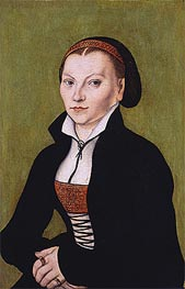 Portait of Katharina von Bora | Lucas Cranach | Painting Reproduction