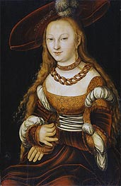 Portrait of a Young Lady | Lucas Cranach | Painting Reproduction