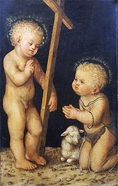 The Christ Child Blessing the Infant St. John the Baptist | Lucas Cranach | Painting Reproduction