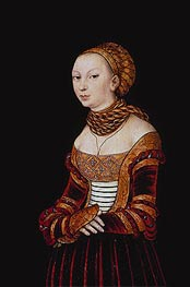 Portrait of a Young Woman | Lucas Cranach | Painting Reproduction