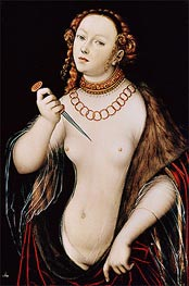 The Suicide of Lucretia, c.1525/50 by Lucas Cranach | Painting Reproduction