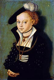 Christiane Eulenau, 1534 by Lucas Cranach | Painting Reproduction