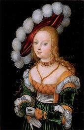Portrait of Young Girl | Lucas Cranach | Painting Reproduction