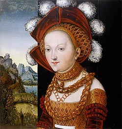 A Finely Dressed Young Lady | Lucas Cranach | Painting Reproduction