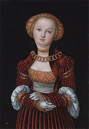 Portrait of a Woman, c.1525 von Lucas Cranach | Gemälde-Reproduktion