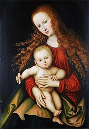 The Virgin and Child, 1529 von Lucas Cranach | Gemälde-Reproduktion