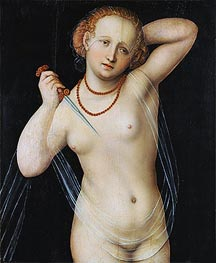 Lucretia, c.1525 by Lucas Cranach | Painting Reproduction