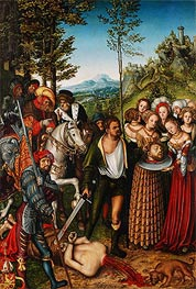 The Beheading of St John the Baptist, 1515 von Lucas Cranach | Gemälde-Reproduktion