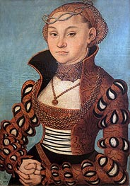 Portrait of a Saxon Lady | Lucas Cranach | Painting Reproduction