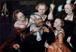 Hercules and Omphale, 1537 by Lucas Cranach | Painting Reproduction