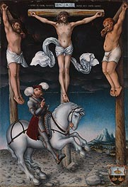 The Crucifixion with the Converted Centurion, 1538 von Lucas Cranach | Gemälde-Reproduktion