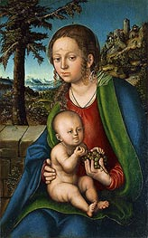 The Virgin with Child with a Bunch Grapes, c.1510 von Lucas Cranach | Gemälde-Reproduktion