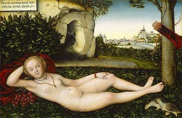 The Nymph of the Spring, 1537 von Lucas Cranach | Gemälde-Reproduktion