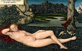 The Nymph at the Fountain, c.1530/34 von Lucas Cranach | Gemälde-Reproduktion