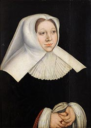 Portrait of Margaretha of Savoy, Governor of the Netherlands, c.1530 von Lucas Cranach | Gemälde-Reproduktion