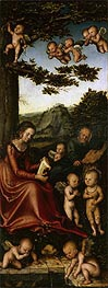 The Holy Family Surrounded by Angels | Lucas Cranach | Gemälde Reproduktion