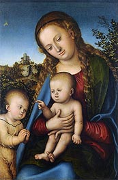 The Virgin and Child with St John as a Boy | Lucas Cranach | Gemälde Reproduktion