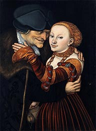 An Ill-Matched Pair, 1528 by Lucas Cranach | Painting Reproduction