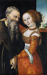 An Ill-Matched Pair, c.1530 by Lucas Cranach | Painting Reproduction