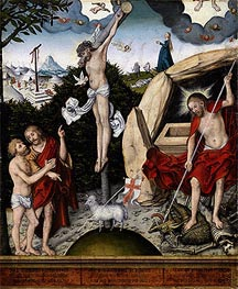 Allegory of Law and Mercy, a.1529 von Lucas Cranach | Gemälde-Reproduktion