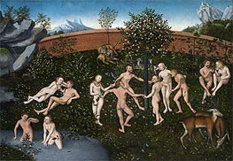 The Golden Age, c.1530 von Lucas Cranach | Gemälde-Reproduktion