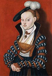 Portrait of Christiane of Eulenau, 1534 von Lucas Cranach | Gemälde-Reproduktion