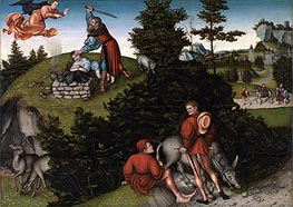 The Sacrifice of Abraham, 1530 von Lucas Cranach | Gemälde-Reproduktion