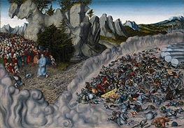The Pharaoh's Hosts Engulfed in the Red Sea, 1530 von Lucas Cranach | Gemälde-Reproduktion