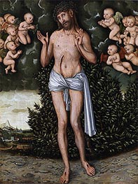Christ as the Man of Sorrows, a.1537 von Lucas Cranach | Gemälde-Reproduktion
