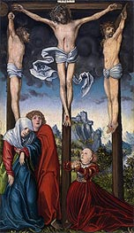 Christ Crucified between the Two Thieves, c.1515/20 von Lucas Cranach | Gemälde-Reproduktion