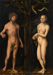 Adam and Eve, undated von Lucas Cranach | Gemälde-Reproduktion