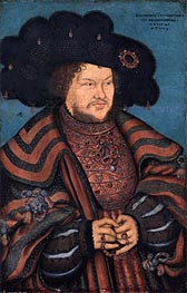 Portrait of Joachim I Nestor, Elector of Brandenburg | Lucas Cranach | Painting Reproduction